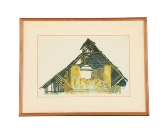 "Egon Schiele's ""Old Gable"""