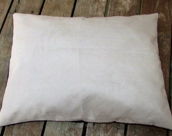 Pet Bed Cover Duvet, Faux Tan Suede & Denim, Canine Cloud Dog Bed Cover 24 x 18, Pet Furniture, Gift