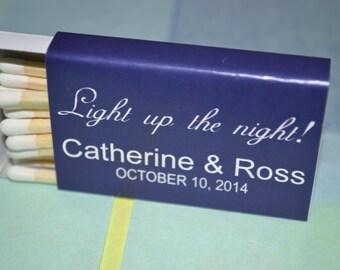 "125 Custom Matchbox Wedding Favors Matchboxes - ""Light Up The Night"""
