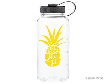 ADPi Alpha Delta Pi Pineapple Water Bottle