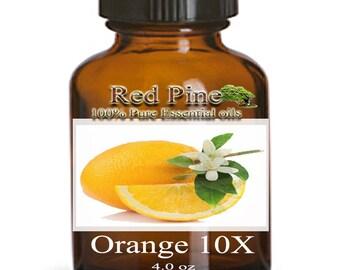 Orange 10x Essential Oil - Citrus sinenis - 100% Pure Therapeutic Grade