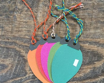 Paper Bulb Gift Tag (set of 5)