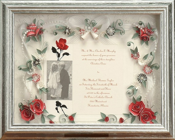 Wedding Invitation Gifts: Framed Wedding Gift Framed Wedding Invitation Valentine