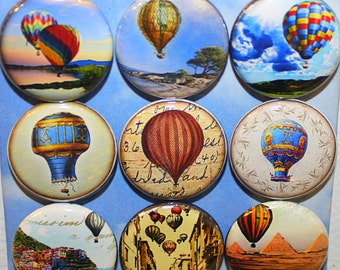 Hot Air Balloon Ride Magnets - One Inch