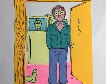Jeffery Dahmer Post-it Portrait