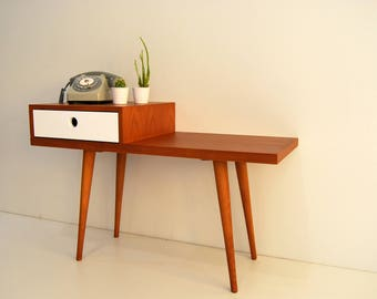 Gossip Bench,Retro Stool, Entryway bench, Retro Telephone Table, Mid Century Modern Style, Nordic Style, Scandinavian