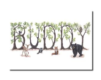 Buddy Print - Woodland Print
