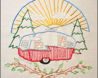 Let's go camping Set Hand Embroidery pattern PDF