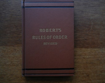 robert s rules of order minutes