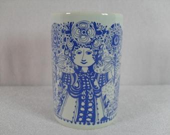 Bjorn Wiinblad, Nymoelle pottery, Flora vase, Danish vase, Scandinavian pottery