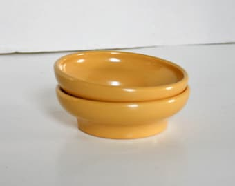 Vintage Gessner Bowls Set Of Two Small Salsa Dishes Golden Mustard Yellow Melamine Melmac Dipping Dishes Condiment Bowls Retro Kitchen