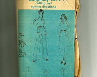 Vintage Simplicity Misses' Dress Pattern 6391