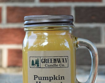 Pumpkin Harvest scented soy wax candle 16 oz