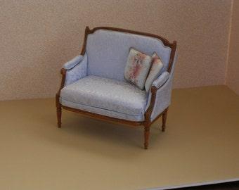 DOLLHOUSE MINIATURE XVI  Louis French Love seat