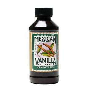 Mexican Vanilla Extract, Pure 4 oz, by LorAnn