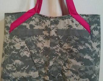 On Sale - U S Army ACU Tote bag, Swoon Alice Pattern