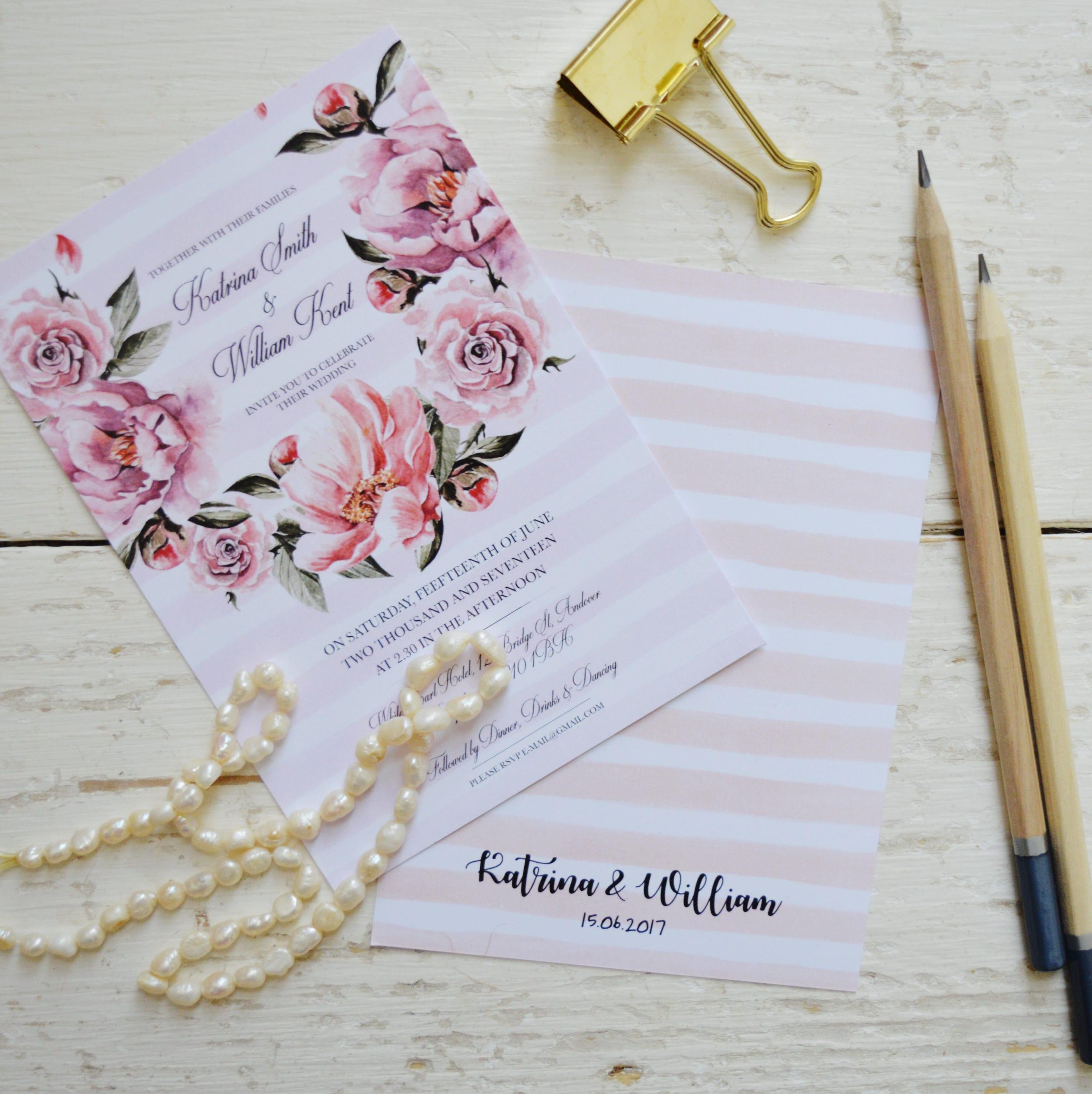Bohemian wedding invitation printable, Boho floral wedding ...