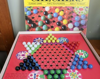 Golden Chinese Checkers, Complete, Western Publishing 1989, Vintage Game With 60 Marbles, Board Game, Vintage Marbles, Star