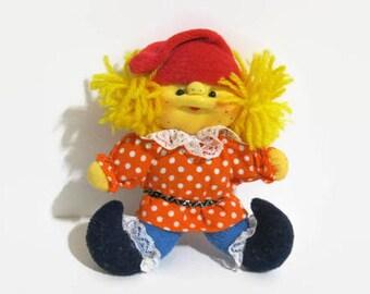 Vintage Soviet doll Clown Petrushka / handmade doll / Russian doll