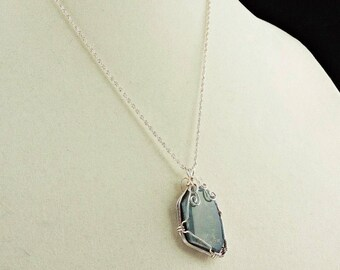 Sterling Silver Large Doublet Opal Pendant Necklace 20""