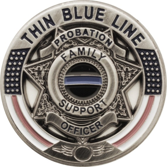 Thin Blue Line Probation Officer Family Support Pin SKU: PI290