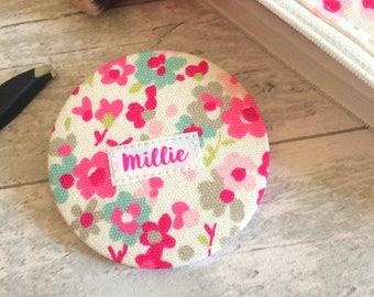 Pocket Mirror - Handbag Mirror - gift for her - fabric pocket mirror - stocking filler - gift for bride - mother's day gift