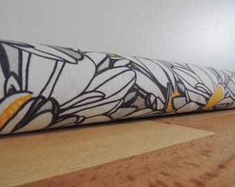 Door draft Stopper. Door or window snake. Draught excluder. House and home accessory.eco friendly energy saver.flower print draft stopper.