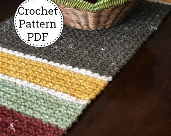 Crochet Pattern | Crochet Table Runner Pattern | Crocheted Pattern| Farmhouse Decor | Plantation Table Runner | Table Accent Piece