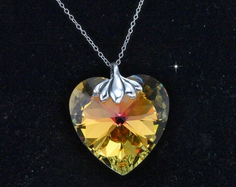 Aurora Borealis Swarovski pendant