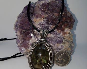 Sterling labradorite pendant