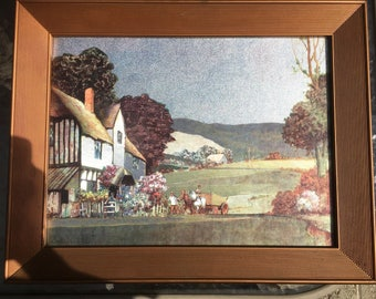 Outstanding Example of Impressionist Silver/Metallic Painting--One of a Pair, Signed