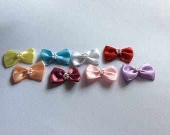 Satin Bows with Pearl Centres