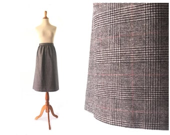 Grey Skirt, XL Skirt, Wool skirt, machine washable, large Vintage Skirt, Womens Skirt, Vintage Clothing Wool SKirt
