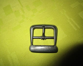 Gray metal square buckle