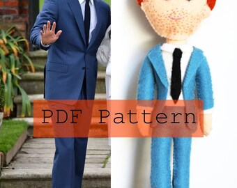 PDF PATTERN: Prince Harry Engagement Felt Doll