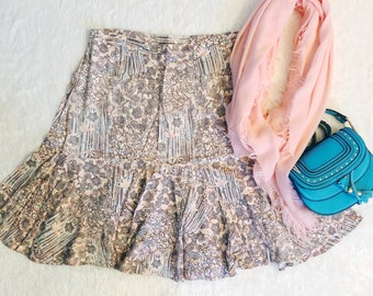 Floral Flare Skirt - Hearts of Palm - Size 14