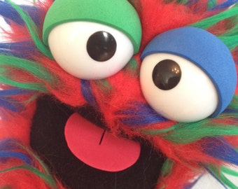 Handy Monster: Electric Candy Cane (hand puppet)