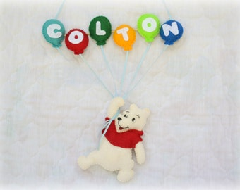 Made to Order Winnie the Pooh Name Mobile