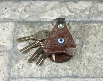 Brown Leather Key Ring Key Charm Keyring Purse Charm Key Fob Harry Potter Labyrinth