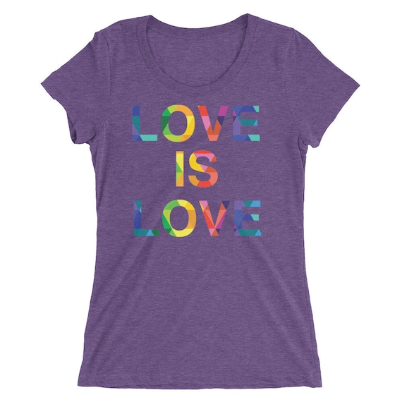 Ladies' short sleeve t-shirt Special Edition! Love is Love Rainbow Pride Tshirt Gay Lesbian Tees LGBT Equality Apparel Love Gifts