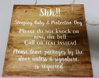 Shh!! Baby Sleeping Door Sign