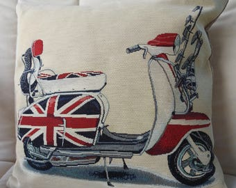 Handmade Scooter Tapestry Cushion Cover - Free Shipping