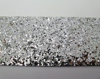 Ribbon stripe glitter 5 shiny silver glued glitter - ref 30 cm