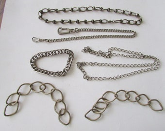 Vintage Lot Chain for Crafting Repurpose Junk Drawer Findings