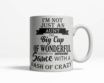 Aunt Cup | Love Auntie Gift |  Best Aunt Ever | Gift for Aunt |  Sister Gift | Pregnancy Reveal | Auntie  Ceramic Mug 11oz 15oz  D5
