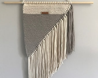 Wall Hanging in Grey & Cream