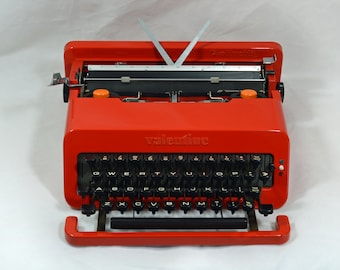 Typewriter. Olivetti Valentine. Design Classic. Spring Sale. REDUCED!