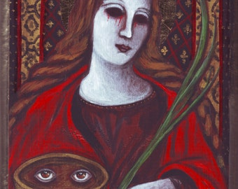 Saint Lucy icon painting