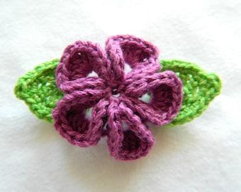 Crochet Flowers Applique, Scrapbooking application
