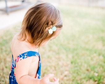 Felt flower bobby pins, floral pins, felt flower headband : newborn/baby/toddler headband - photo prop